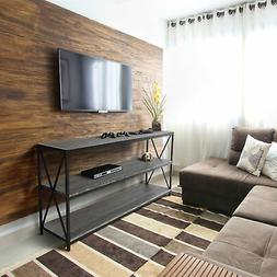 "Zenvida Universal TV Stand for TV's up to 65"" Metal Wood Liv"