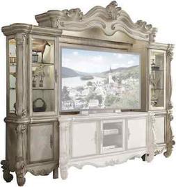 "Versailles Ornamental 72"" TV Entertainment Wall Unit In Bone"