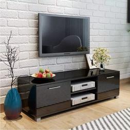 VidaXL Glossy Black <font><b>TV</b></font> Cabinet Modern De