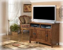 "Vintage Casual Medium Brown Oak 50"" TV Stand Entertainment C"