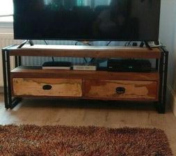 Industrial TV Stand Vintage Reclaimed Sideboard Rustic Lowbo