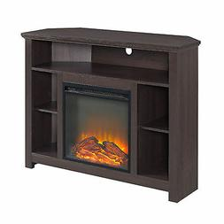 Walker Edison W44FPHBCES 44In Wood Corner Highboy Fireplace