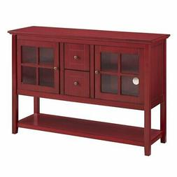 """Walker Edison W52C4CTRD 52 """" Wood Console Table Tv Stand Ant"""