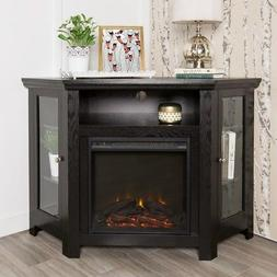 "WALK-W48FPCRBL-WE Furniture 48"" Corner TV Stand Fireplace Co"
