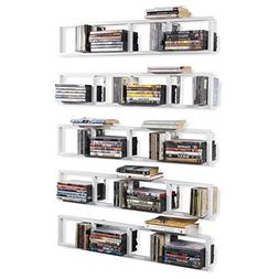 BHG Wall Mount Media Storage Rack Cd DVD Organizer 34 Inch M