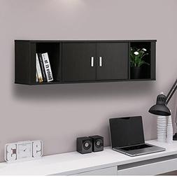 Topeakmart Wall Mounted Floating Media Storage Cabinet Hangi