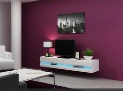 Wall Mounted Floating TV stand 71'' Long High Gloss , New in