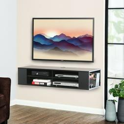 Floating TV Stand, Wall Mounted Media Console, Component She