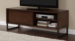 Breckenridge Walnut 50-inch Flat Screen TV Stand Media Stora