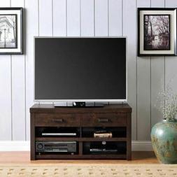 Walnut Wooden TV Stand Entertainment Center Media Storage Co