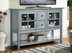 """We Furniture 52"""" Wood Console Table Buffet Tv Stand - Antiqu"""