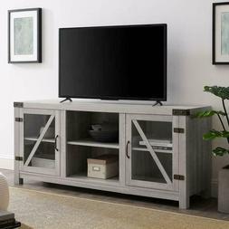 "We Furniture Az58Bdgdst Tv Stand, 58"", Stone Grey"