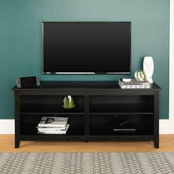 WE Furniture Minimal Farmhouse Wood Universal Stand for TV's