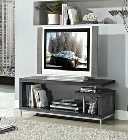 Weathered Grey Finish TV LCD Plasma Entertainment Center Sta