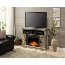 """55"""" Weathered Rustic Electric Fireplace TV Stand Entertainme"""