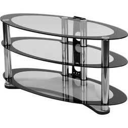 Flash Furniture Westchester Two-Tone Glass TV Stand with She