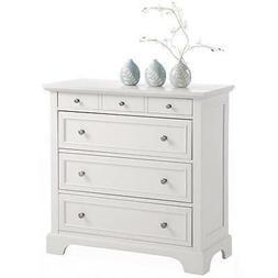 White Dresser Chest 4 Drawer Storage Bedroom Media Wood Furn