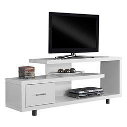"""White Hollow-Core 60""""L TV Console"""