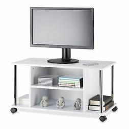 White TV Stand, TV Armoire, Entertainment Unit, MDF Coffee T