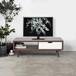 eHomeProducts White and Walnut Finish TV Television Plasma L