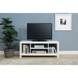"White Wood TV Console Table for TVs up to 42"", Gaming Stand"