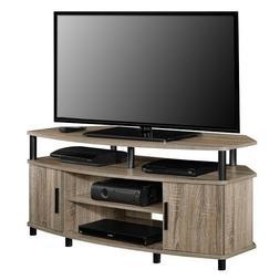 Corner TV Stand 50 In. Wide Stylish Design Storage Options E