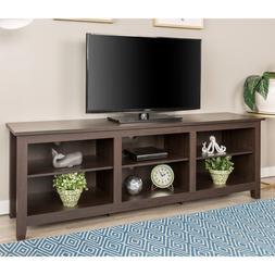 New 70 Inch Wide Espresso Brown Television Stand