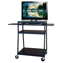 Hamilton Buhl Wide Body Flat Panel TV Cart with Two Side Pul