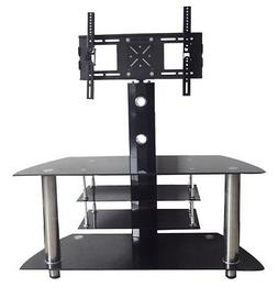 Hodedah TV Stand with Swivel Mount & Four Tempered Glass She