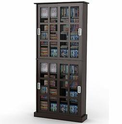 Atlantic Windowpane 720 CD & DVD Media Storage Cabinet in Es