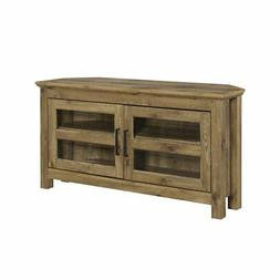 "WE Furniture 44"" Wood Corner TV Media Stand Storage Console"