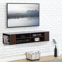 Fitueyes Wood Floating Stand Mount Shelves  TV Stand Media C