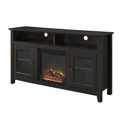 58 Inch Wood Highboy Fireplace TV Stand - Espresso Espresso
