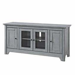 "WE Furniture 52"" Wood TV Media Stand Storage Console - Antiq"