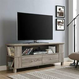 "WE Furniture 60"" Wood TV Stand - Driftwood"