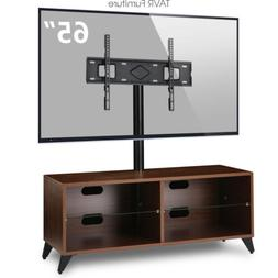 Wood TV Stand Console with Swivel Mount for 32-65 inch TVs S