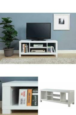 Wood TV Stand For 42 in. Contemporary Media Storage Cabinet