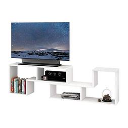 DEVAISE Wood TV Stand Storage Console,L Shaped Bookcase/Book