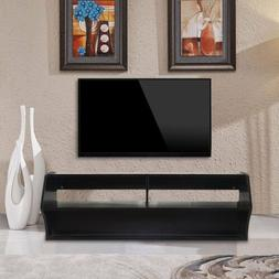 Wood TV Stand Wall Mount Media Entertainment Console Cntr De