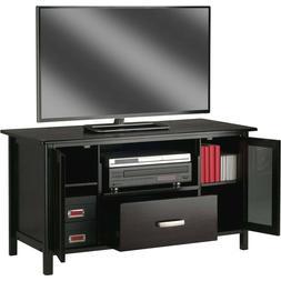 Wooden Bradford Media Console/TV Stand, Espresso Finish