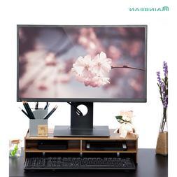 Wooden Computer Monitor Organizer Escritorio <font><b>TV</b>