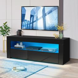 """57"""" LED TV Stand Unit Console with Side Cabinet Entertainmen"""