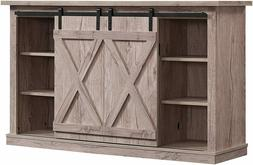 Wrangler Country Rustic Sliding Barn Door TV Stand, Ashland