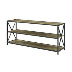 "WE Furniture AZS60XMWRO Wood Console Table, 60"", Rustic Oak"