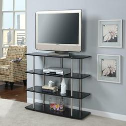 """XL Highboy TV Stand With Shelves Flat Screen 42"""" TVs Up to 5"""